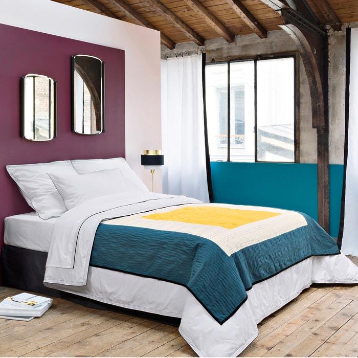 plaid in voile di cotone maison sarah lavoine blu bianco. Black Bedroom Furniture Sets. Home Design Ideas