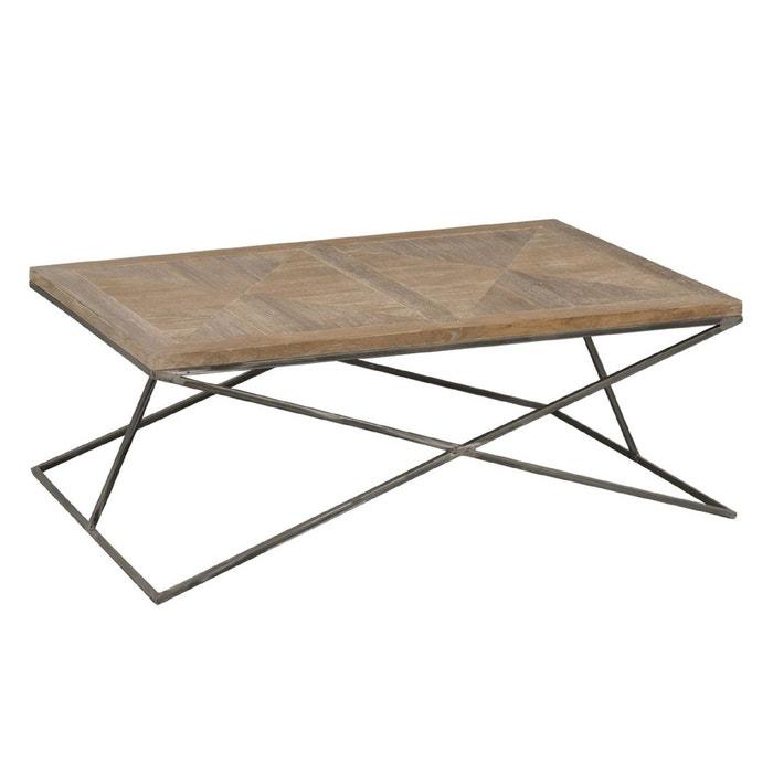 Table Basse Bois Metal Korsa Bois Clair Hellin Depuis 1862 La Redoute