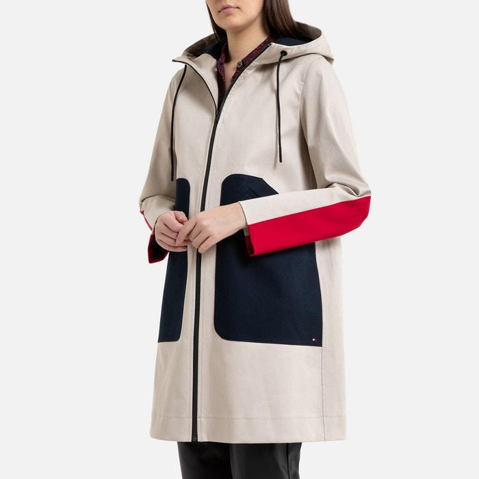 Driekleurige jas met kap en rits  TOMMY HILFIGER image 0