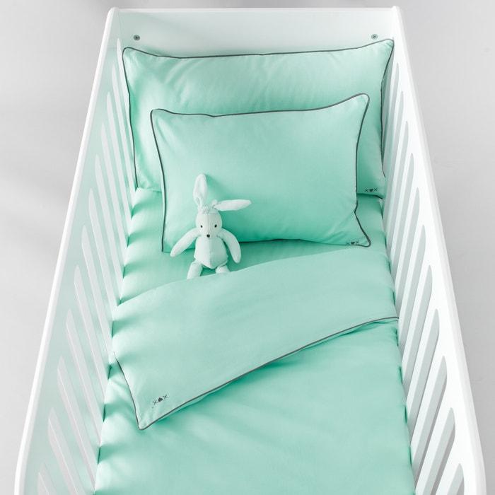 Image Housse de couette bébé, unie, en coton. La Redoute Interieurs
