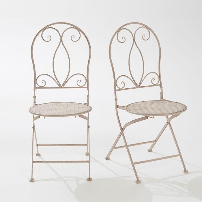 Chaise de jardin métal pliante