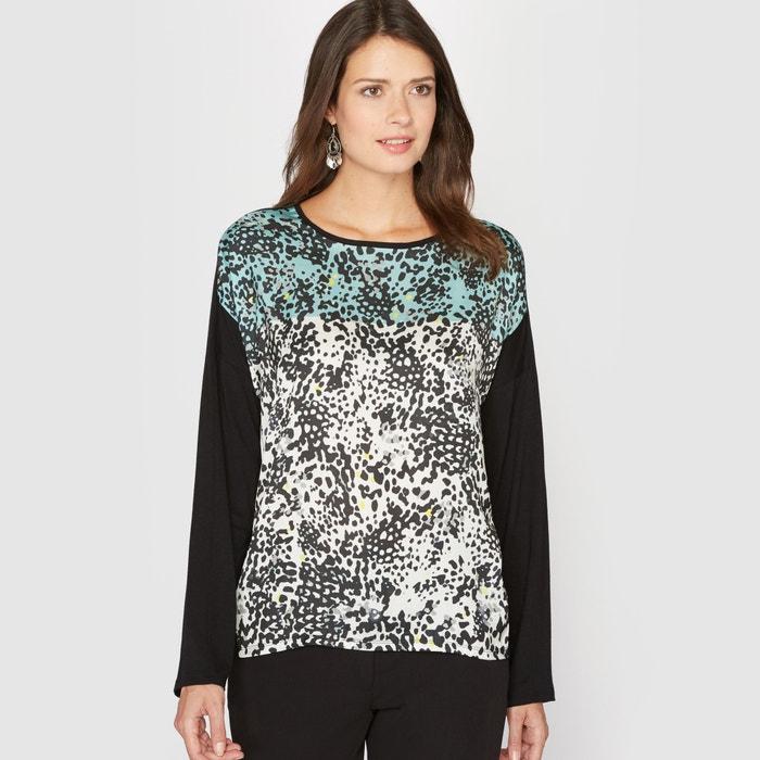 afbeelding Bedrukt T-shirt, 2 stoffen ANNE WEYBURN