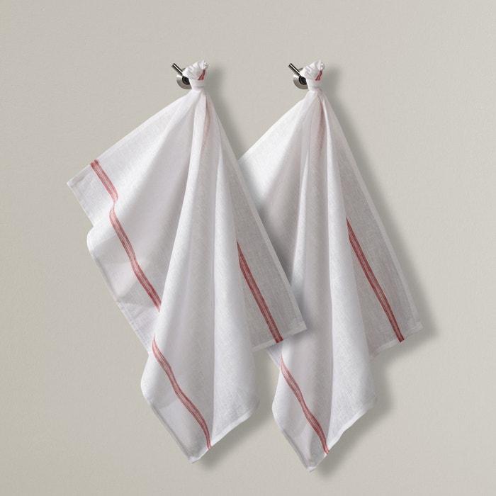 Image Torchons essuie-verres en lin (lot de 2) La Redoute Interieurs