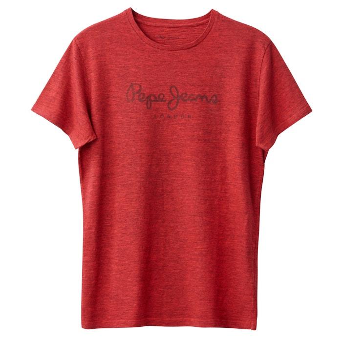 y cuello con lisa manga PEPE JEANS redondo Camiseta corta SPqZWwFRTB