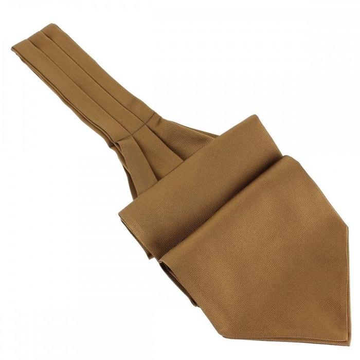 Cravate ascot en soie, tabacco, fait à la main marron Tony Et Paul | La Redoute