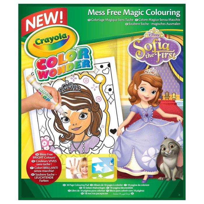 Coloriage De Princesse En Couleur.Coloriages Color Wonder Princesse Sofia Crayola La Redoute