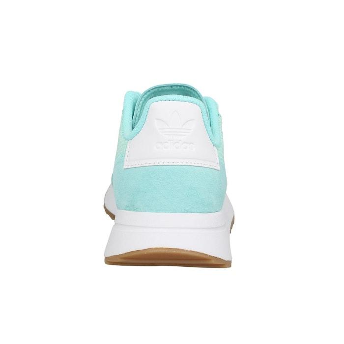 Baskets femme adidas flb runner toile femme vert bleu Adidas