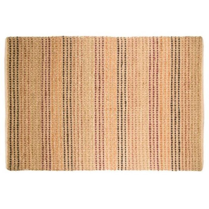 tapis naturel et coton 120x170 terracotta beige flair rugs. Black Bedroom Furniture Sets. Home Design Ideas