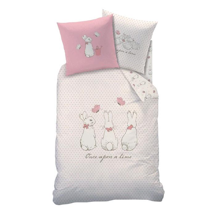 housse de couette rose 1 place 1 taie d 39 oreiller pierre lapin 100 coton rose pierre le lapin. Black Bedroom Furniture Sets. Home Design Ideas