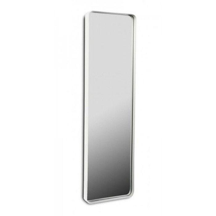 Miroir long rectangulaire cadre 25 x 90 cm versa blanc for Miroir long blanc