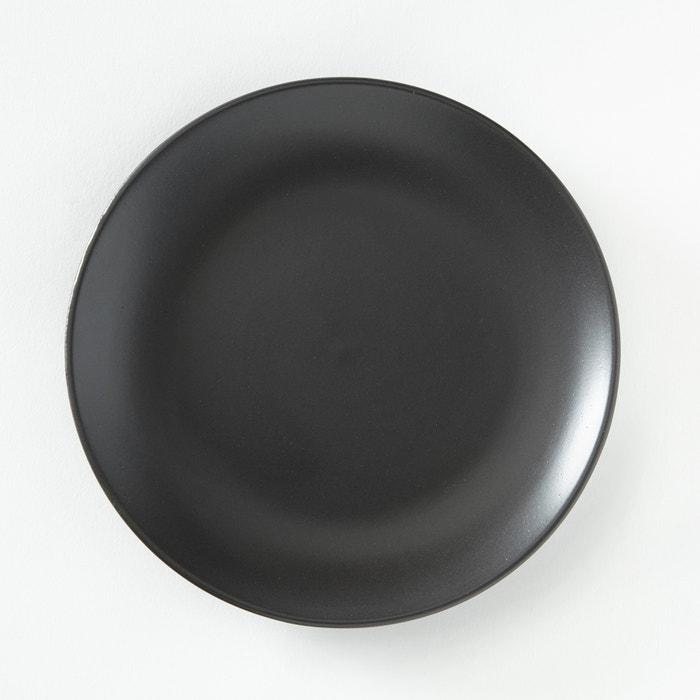 assiette dessert en gr s mat lot de 4 abessi gris anthracite la redoute interieurs la redoute. Black Bedroom Furniture Sets. Home Design Ideas