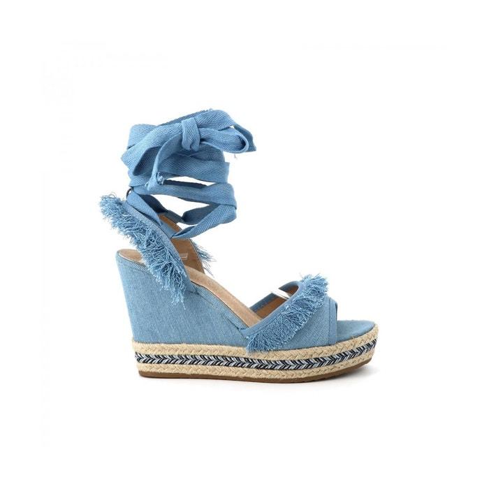 Sandale denim yoanna  bleu clair Cassis Cote D'azur  La Redoute