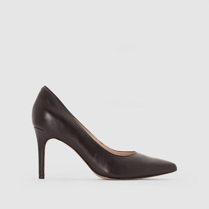 Escarpins cuir  noir Clarks  La Redoute