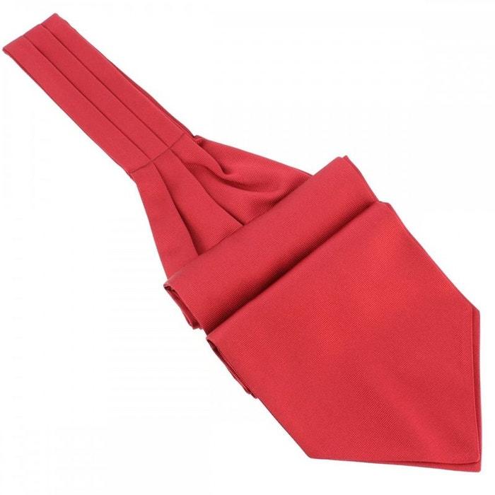 Cravate ascot en soie, rouge sangue, fait à la main rouge Tony Et Paul | La Redoute