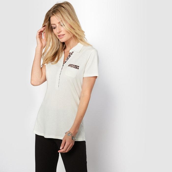 Image T-shirt polo, cotone & modal ANNE WEYBURN
