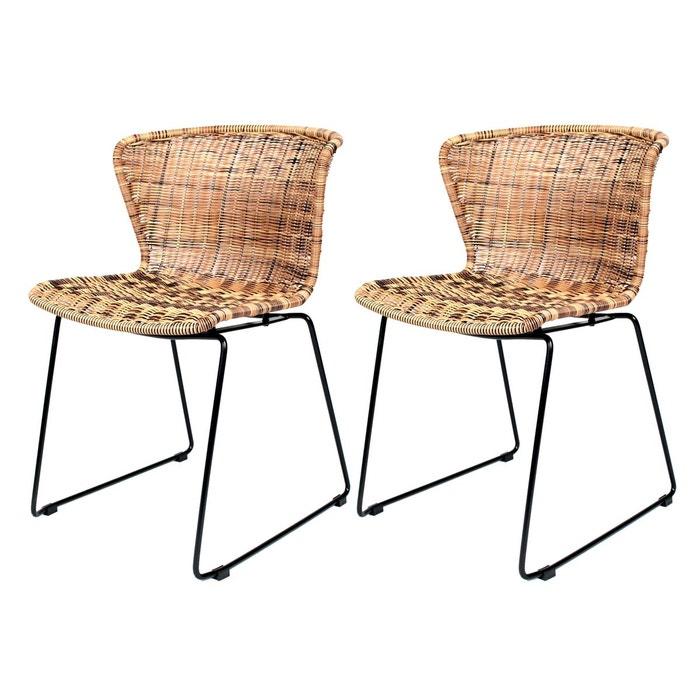 chaise mysore en r sine tress e lot de 2 rendez vous deco la redoute. Black Bedroom Furniture Sets. Home Design Ideas