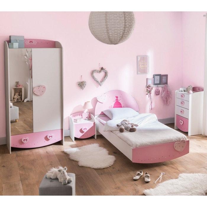 Chambre enfant féérie rose et blanc CB125