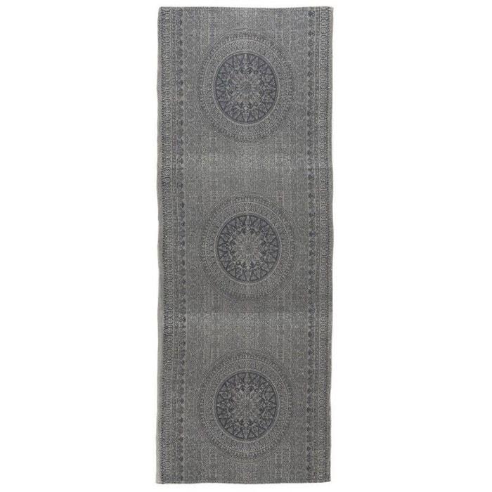 tapis de couloir long motif rosace ib laursen rosette 180 x 80 cm gris ib laursen la redoute. Black Bedroom Furniture Sets. Home Design Ideas