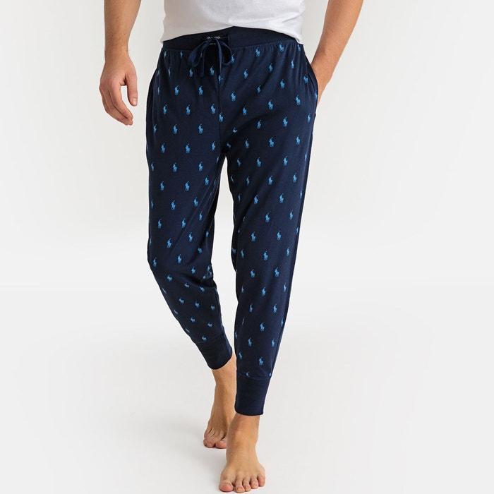 00511565adb6f8 Pantalon de pyjama pur coton imprimé bleu marine Polo Ralph Lauren | La  Redoute