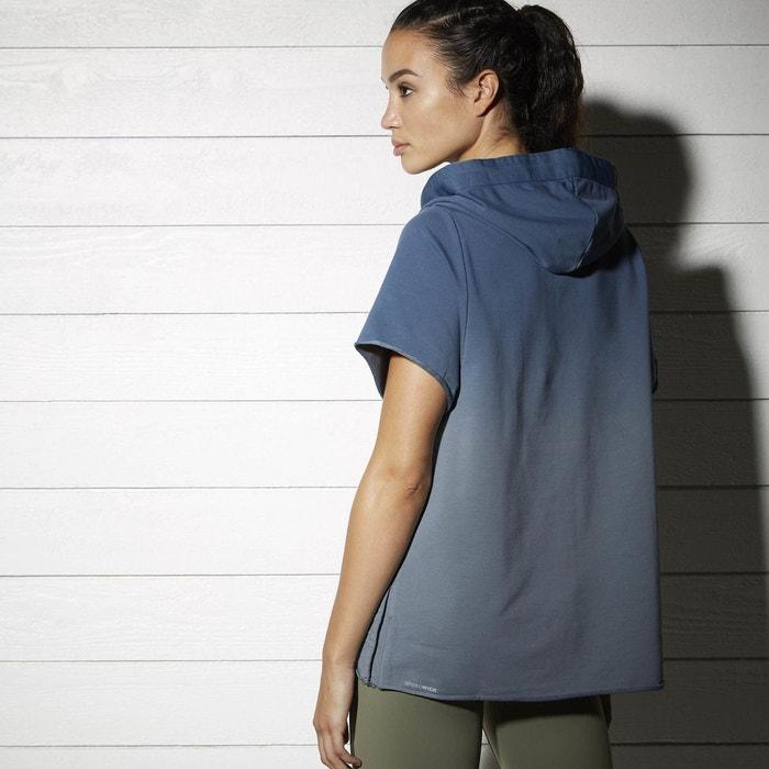 Sweat femme combat ombre ss bleu Reebok   La Redoute 8e9553a33daa