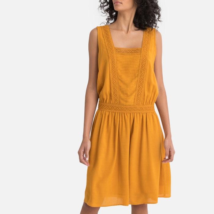 64dff437aefd68 Rechte halflange jurk zonder mouwen LA REDOUTE COLLECTIONS