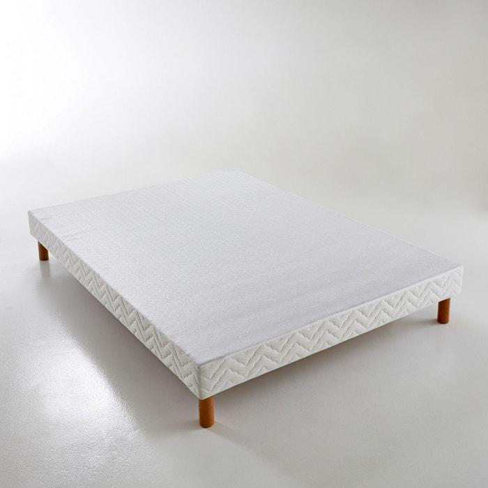 sommier tapissier lattes recouvertes blanc reverie la redoute. Black Bedroom Furniture Sets. Home Design Ideas