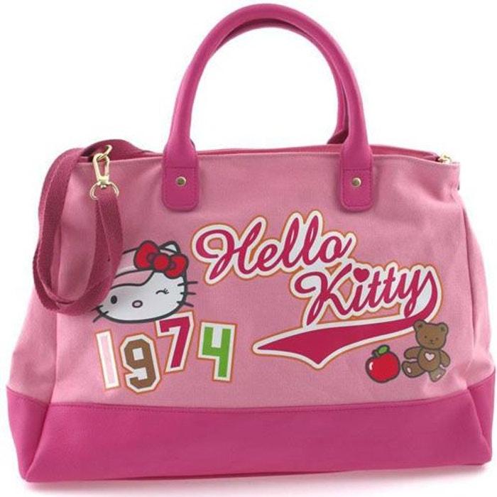 Grand sac à main Hello Kitty High Street rose by Camomilla