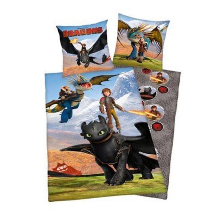herding la parure de lit dragons 135 x 200 cm 80 x 80 cm multicolore herding la redoute. Black Bedroom Furniture Sets. Home Design Ideas