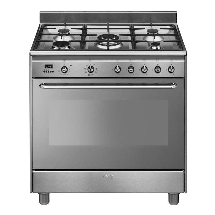 Piano de cuisson mixte smeg cg90x9 smeg la redoute mobile for Meuble cuisine pour plaque gaz