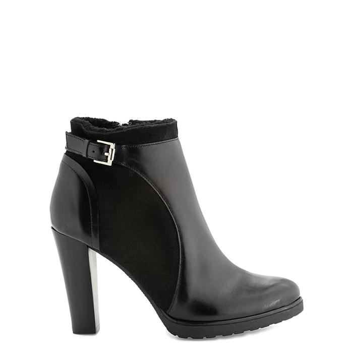 afbeelding Boots in leer met hoge hak ESNA FUR COSMOPARIS