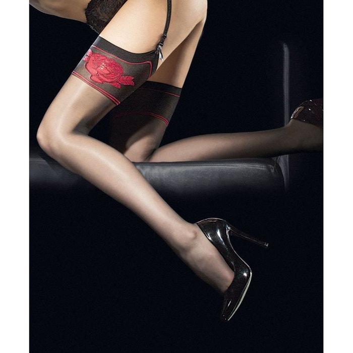 bas pour porte jarretelles etheris noir fiore la redoute. Black Bedroom Furniture Sets. Home Design Ideas