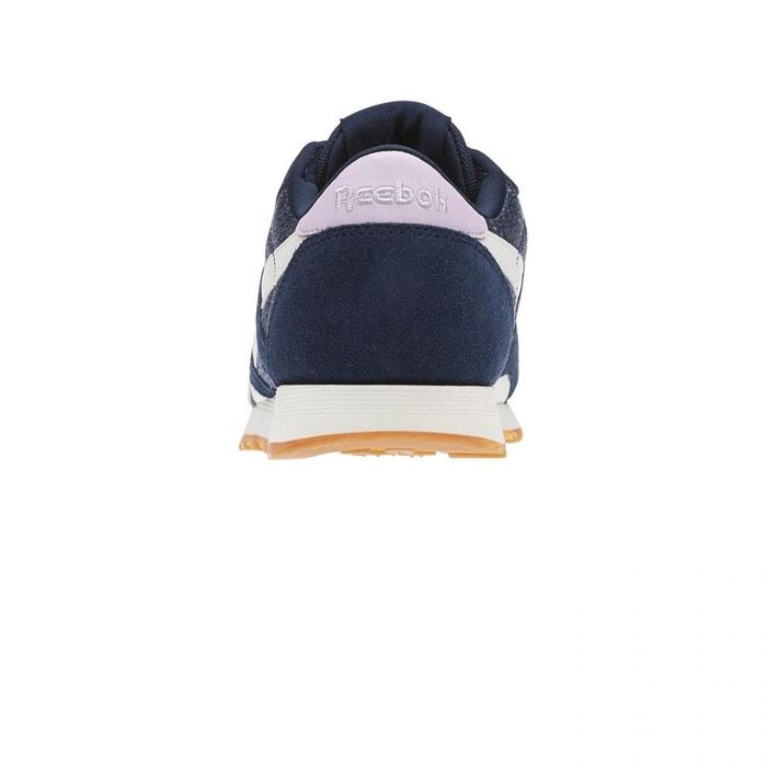 Baskets basses cl nylon wr bleu/rose Reebok