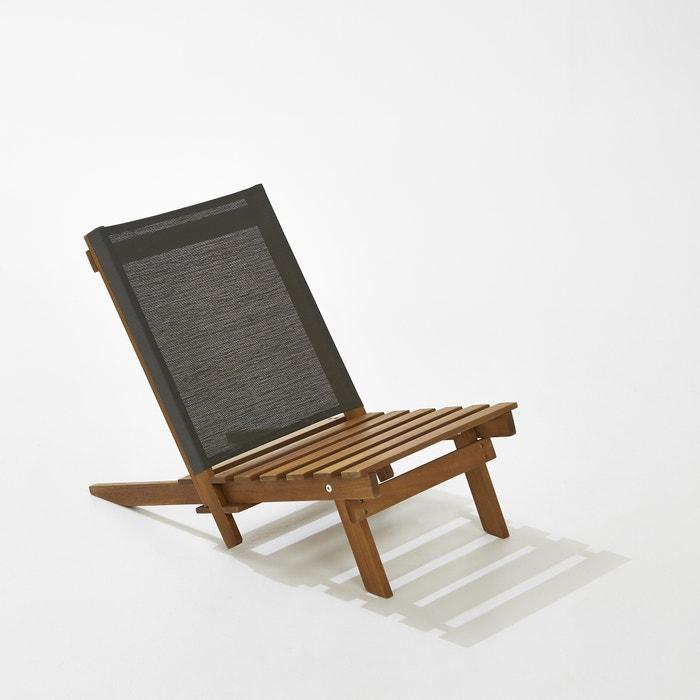 chaise basse de plage acacia la redoute interieurs la redoute. Black Bedroom Furniture Sets. Home Design Ideas