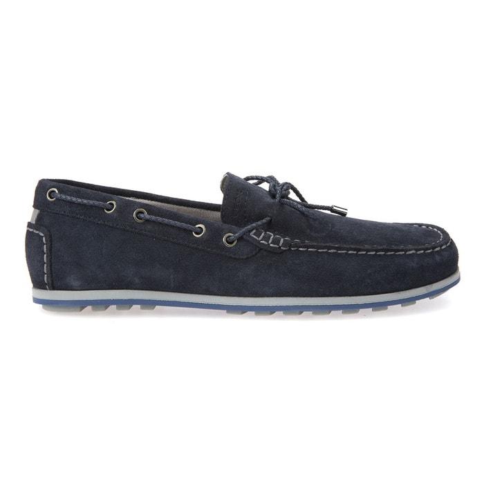 Geox U Mirvin Bleu marine - Chaussures Mocassins Homme