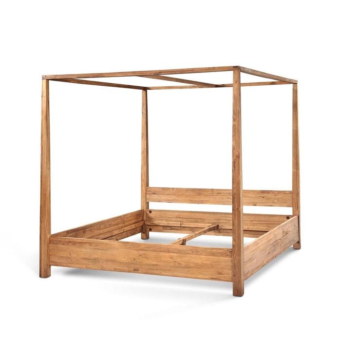 lit baldaquin teck kha home design la redoute. Black Bedroom Furniture Sets. Home Design Ideas