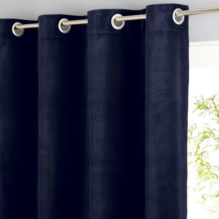 Teddy Sheer Velour Single Curtain with Eyelet Header