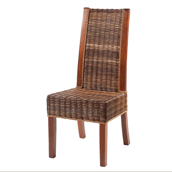 chaise zonza en rotin marron ambr rotin design la redoute. Black Bedroom Furniture Sets. Home Design Ideas