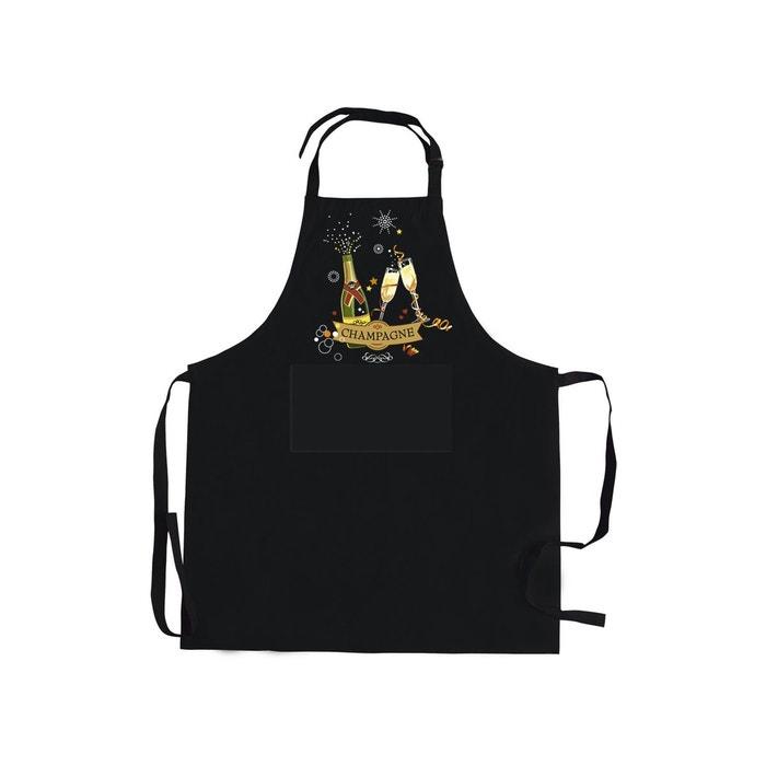 Tablier de cuisine noir champagne cbk la redoute for Tablier de cuisine noir