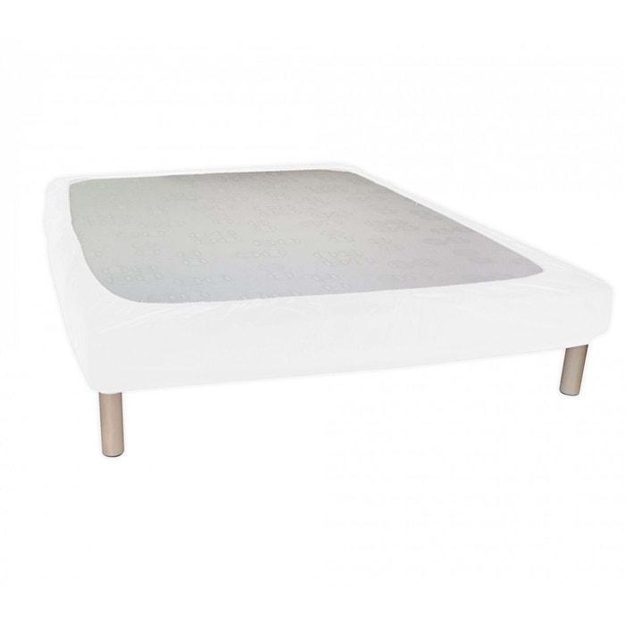 cache sommier coton jersey blanc blanc terre de nuit la redoute. Black Bedroom Furniture Sets. Home Design Ideas