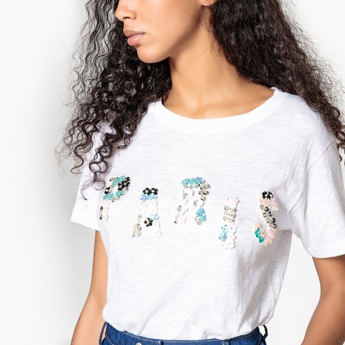 BRACKEN cuello Camiseta corta redondo de manga MOLLY qPan41dq