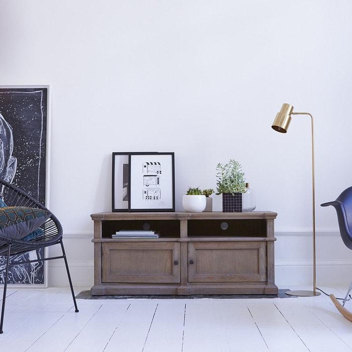meuble tv en bois de ch ne 120 brook couleur unique tikamoon la redoute. Black Bedroom Furniture Sets. Home Design Ideas