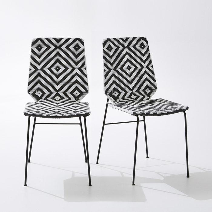 Chaise de jardin impalla lot de 2 la redoute interieurs noir blanc la redoute - La redoute chaise de jardin ...