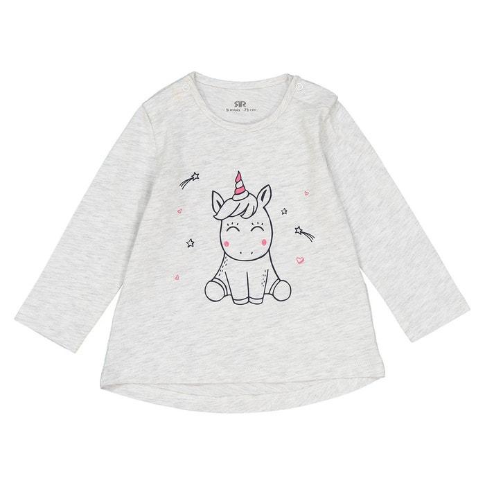 efc45ab6a25 T-shirt imprimé licorne 1 mois - 3 ans gris chiné La Redoute Collections