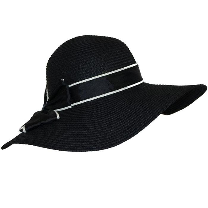 chapeau capeline paille noir chapeau tendance la redoute. Black Bedroom Furniture Sets. Home Design Ideas