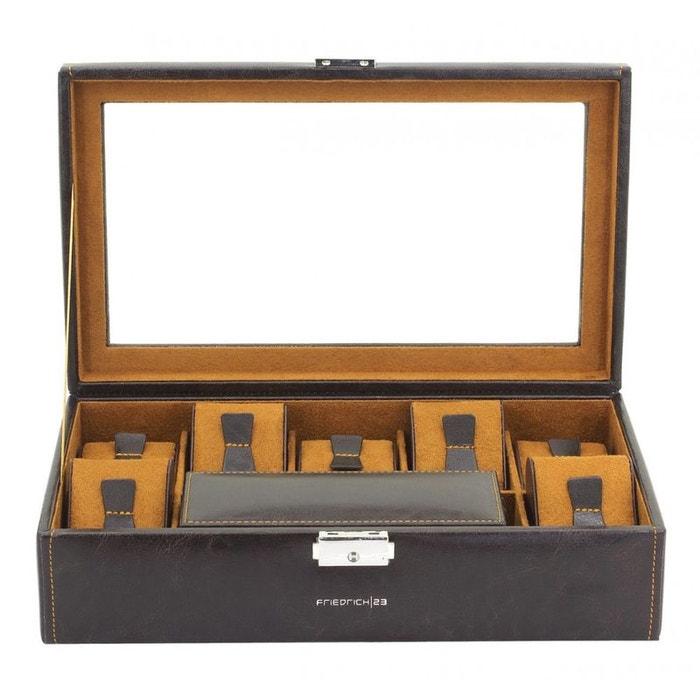 Ecrin 7 montres + 2 dans étui intérieur, bond, marron, vitré marron Friedrich 23 | La Redoute