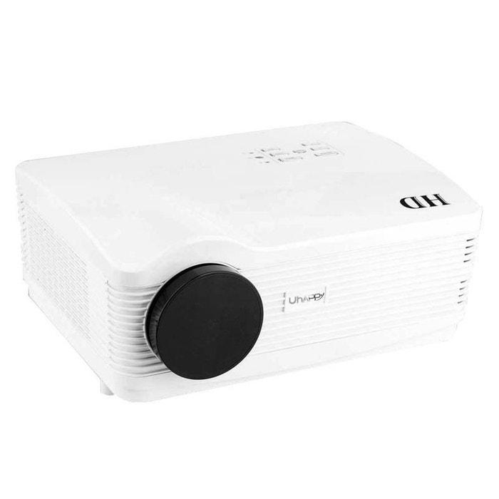 Vidéoprojecteur Full HD 3000 Lumens LED Home cinéma Films Jeux Blanc