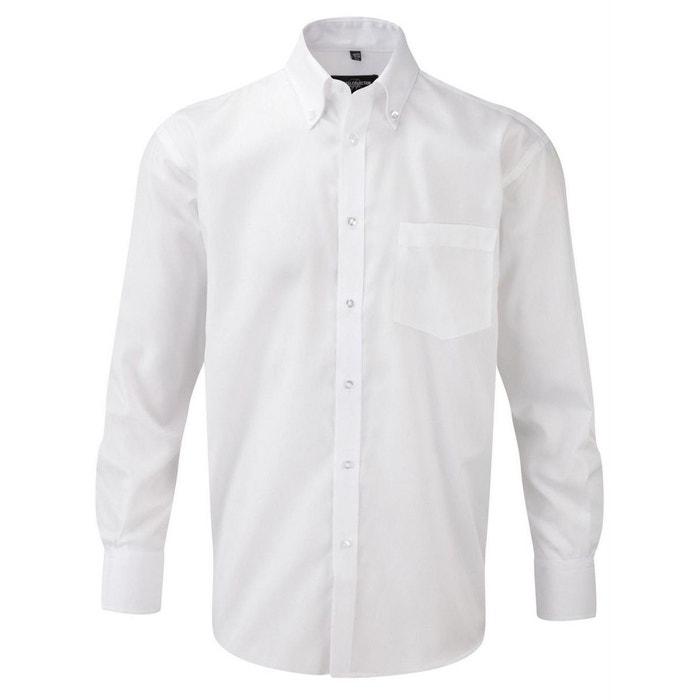 f834e3dd9e956 Chemise sans repassage blanc Fashion Cuir   La Redoute