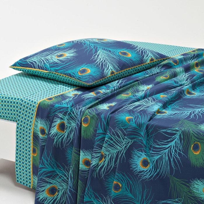 drap percale shakhra bleu vert jaune la redoute interieurs la redoute. Black Bedroom Furniture Sets. Home Design Ideas