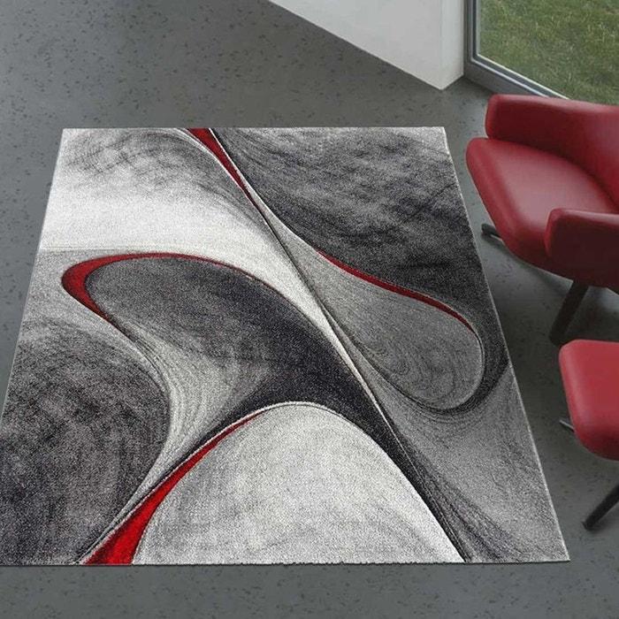 Tapis Graphique Et Modern Pour Le Salon Milar Rouge Dezenco La Redoute