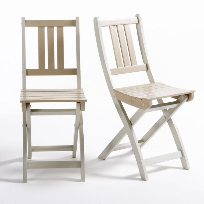 Chaise de jardin acacia fsc manta lot de 2 la redoute interieurs la redoute for Fauteuil salon de jardin la redoute